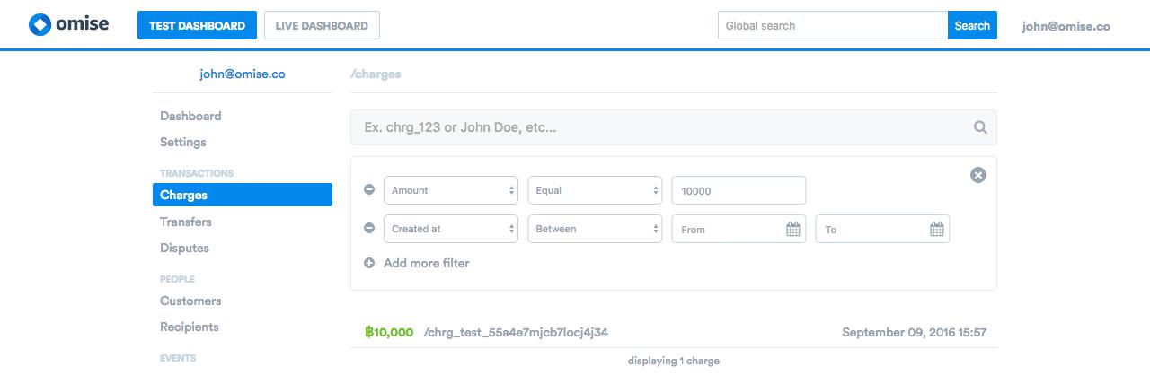 Advanced Search input amount