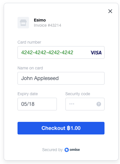 Credit Card form example